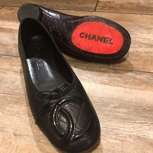 CHANEL - Cambon Quilted Lambskin Ballet Flats (41)